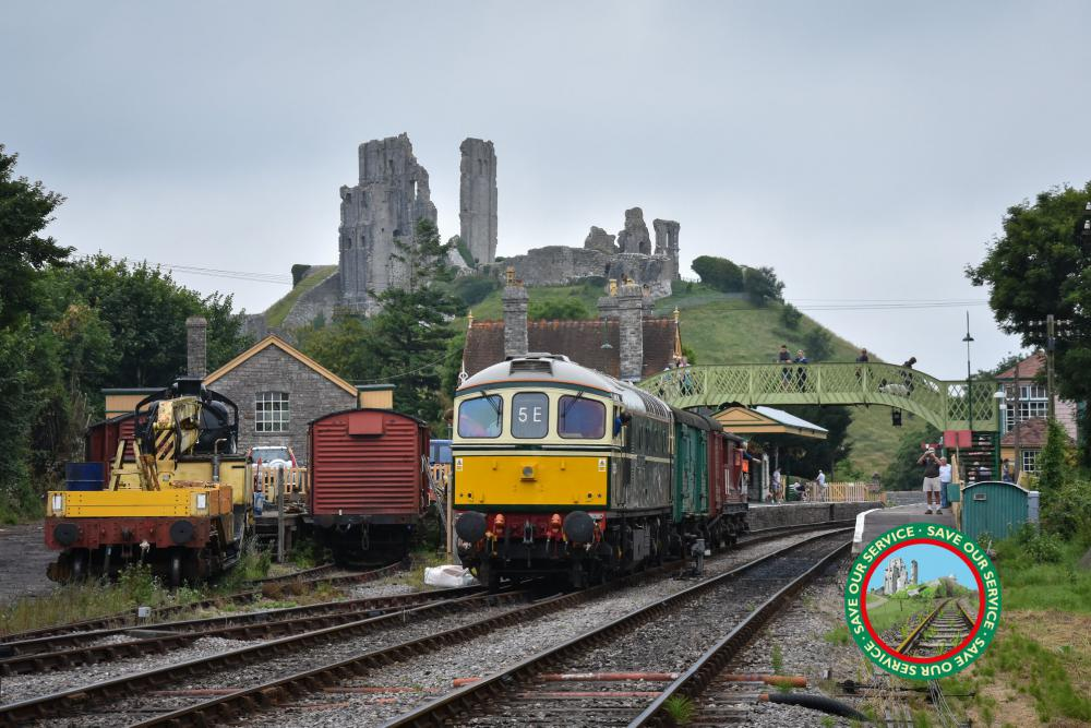 Swanage Railway at Corfe Castle Dorset